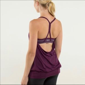 Lululemon Wee are from space Plum CYB tank